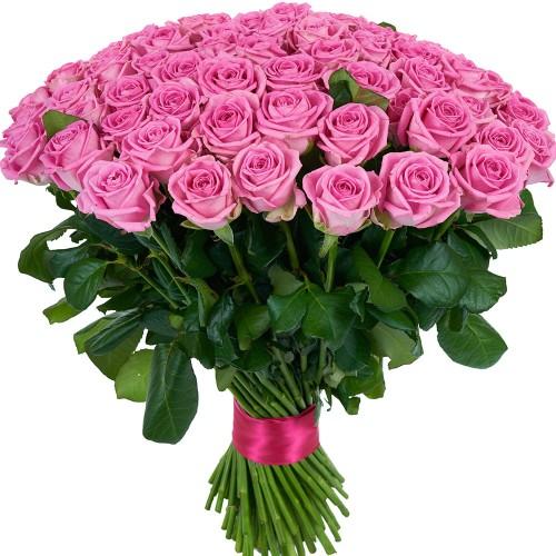 Купить на заказ Букет из 101 розовой розы с доставкой в Аксае