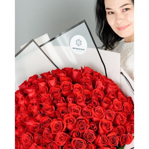 Купить на заказ Букет из 101 красной розы с доставкой в Аксае