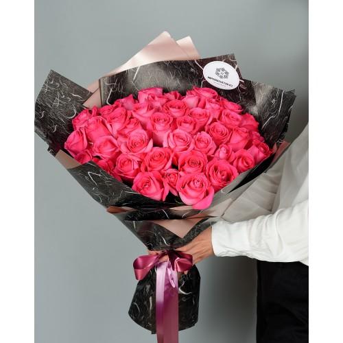 Купить на заказ Букет из 51 розовых роз с доставкой в Аксае
